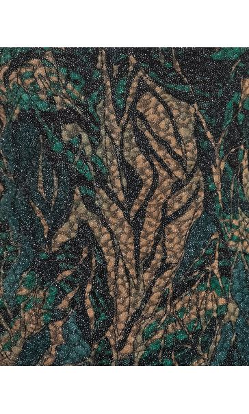 Anna Rose Printed Jersey Top Green/Gold - Gallery Image 3