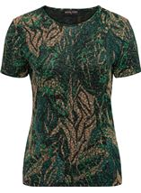 Anna Rose Printed Jersey Top Green/Gold - Gallery Image 4