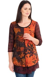 Printed Knit Layered Tunic