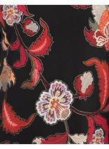 Printed Asymmetric Long Sleeve Tunic Black/Red - Gallery Image 3
