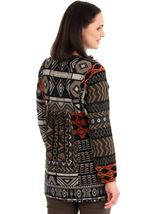 Embroidered Long Sleeve Knit Top Oranges - Gallery Image 2