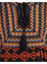 Embroidered Long Sleeve Knit Top Oranges - Gallery Image 3