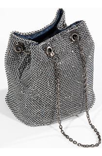 Embellished Chain Mail Clutch Bag