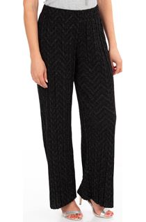 Pleated Wide Leg Shimmer Trousers