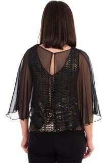 Chiffon Cape Sparkle Circle Top