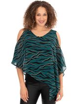Animal Printed Chiffon layer Top