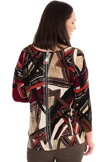 Printed Zip Back Tunic