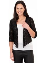 Sequin Mesh Cover Up Black - Gallery Image 1