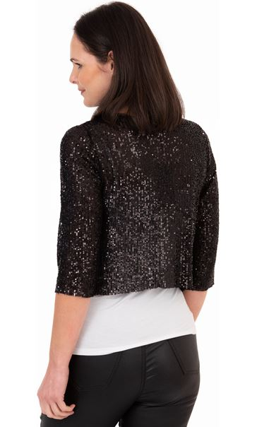 Sequin Mesh Cover Up Black - Gallery Image 2