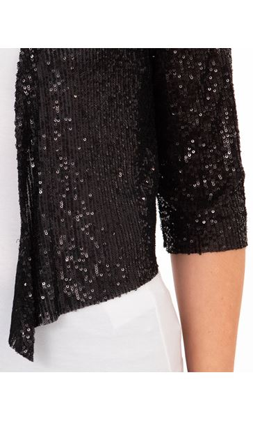 Sequin Mesh Cover Up Black - Gallery Image 3