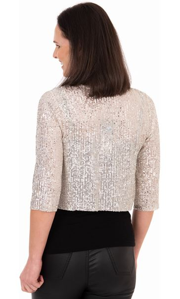 Sequin Mesh Cover Up - Gold