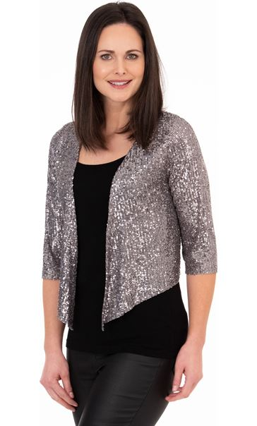 Sequin Mesh Cover Up Silver