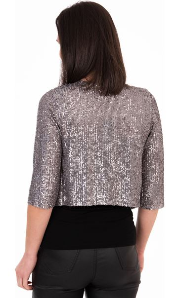 Sequin Mesh Cover Up - Silver
