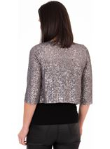 Sequin Mesh Cover Up Silver - Gallery Image 2