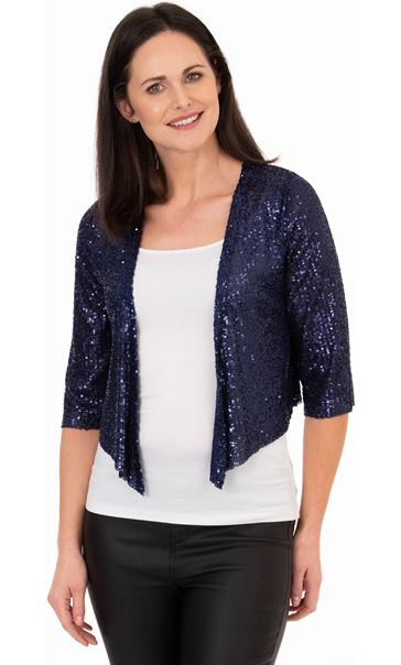 Sequin Mesh Cover Up Midnight