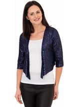 Sequin Mesh Cover Up Midnight - Gallery Image 1