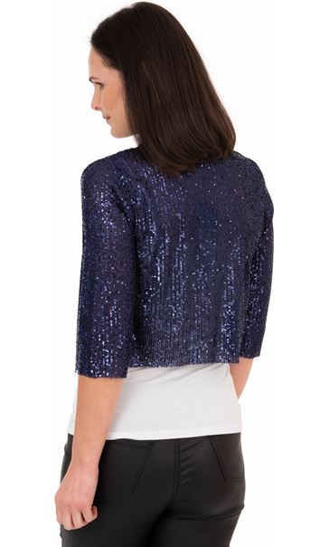 Sequin Mesh Cover Up Midnight - Gallery Image 2