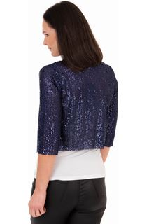 Sequin Mesh Cover Up - Midnight