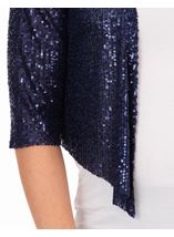 Sequin Mesh Cover Up Midnight - Gallery Image 3