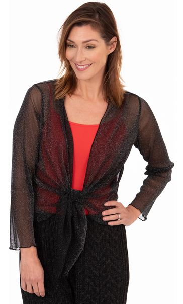 Sparkle Mesh Cover Up Black/Silver