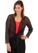Sparkle Mesh Cover Up Black/Silver - Gallery Image 1
