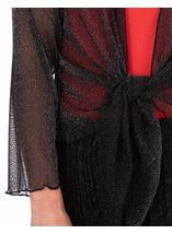 Sparkle Mesh Cover Up Black/Silver - Gallery Image 3