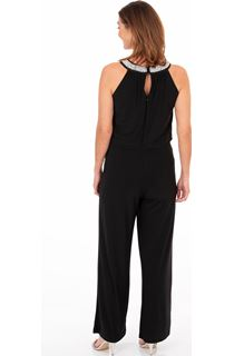 Pearl Trim Sleeveless Jumpsuit