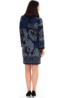 Knitted Paisley Print Long Sleeve Dress