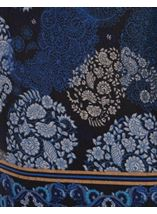 Knitted Paisley Print Long Sleeve Dress Cobalt/Black - Gallery Image 3