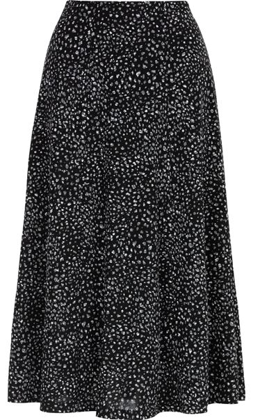 Anna Rose Panelled Print Midi Skirt