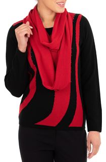 Anna Rose Embellished Knit Top With Scarf