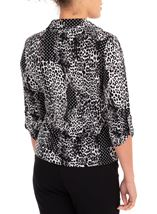 Anna Rose Printed Jersey Shirt With Necklace Black/Ivory - Gallery Image 2
