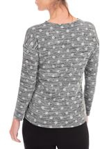 Anna Rose Spot Knit Top With Necklace Black/Silver - Gallery Image 3