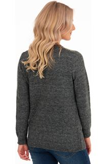Patchwork Long Sleeve Knit Top