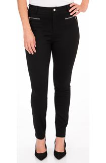 Slim Leg Stretch Trousers - Black