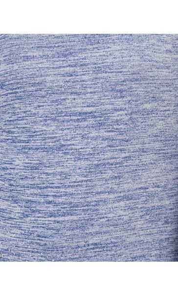 Long Sleeve Lightweight Knit Top Electric Blue - Gallery Image 3