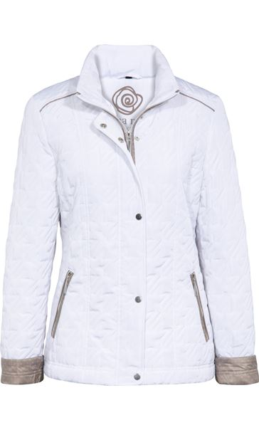 Anna Rose Quilt Coat White