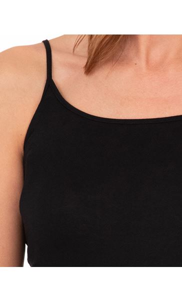Adjustable Strappy Jersey Cami Top Black - Gallery Image 3