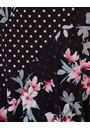 Spot And Floral Panelled Mesh Dress Black - Gallery Image 3