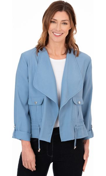 Drape Front Lightweight Jacket