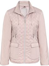 Anna Rose Flocked Panel Zip Coat
