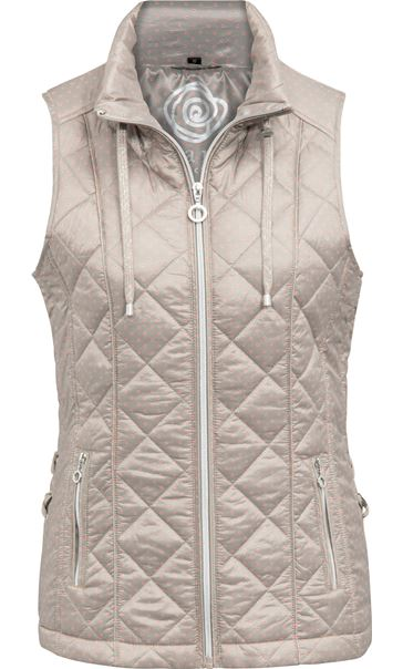 Anna Rose Spot Print Gilet Taupe Spot - Gallery Image 1