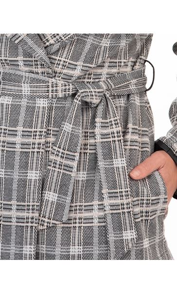 Smart Checked Jacket Grey/Beige Check - Gallery Image 3