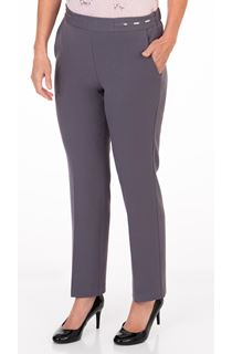 Anna Rose Straight Leg Trouser 29 inch - Mid Grey