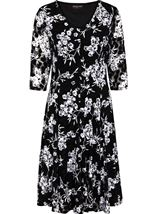 Anna Rose Panelled Lace Dress Black - Gallery Image 1