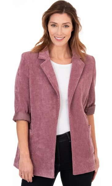 Stretch Cord Open Jacket Damson