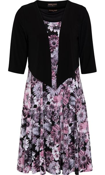 Anna Rose Floral Print Dress With Cover Up