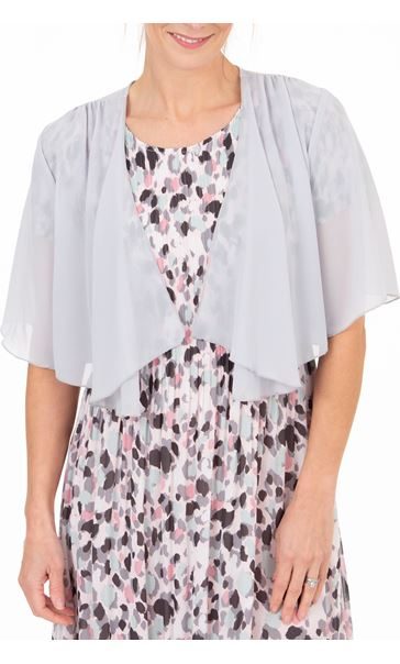 Anna Rose Open Chiffon Cover Up - Metallic