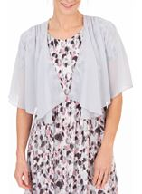 Anna Rose Open Chiffon Cover Up Silver Grey - Gallery Image 1