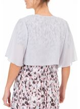 Anna Rose Open Chiffon Cover Up Silver Grey - Gallery Image 2